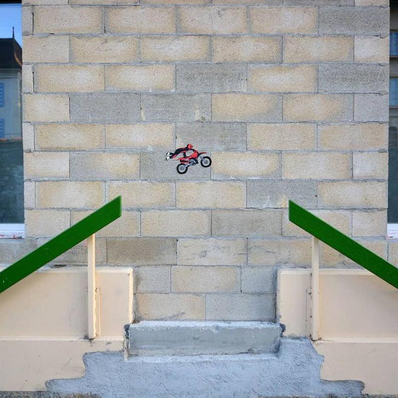 Daredevil street art in Switzerland