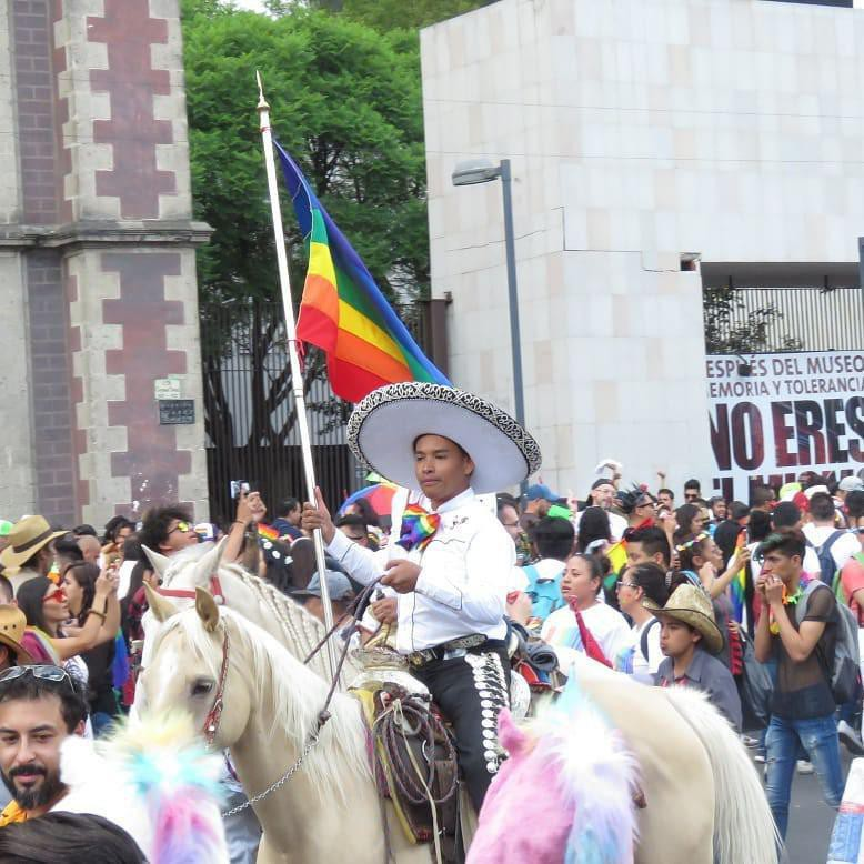 People at the Pride Parade in Mexico City