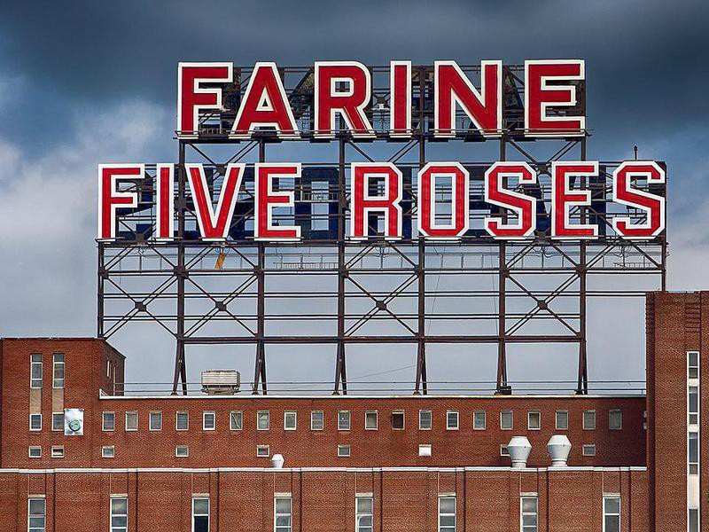 Farine Five Roses sign in Montreal