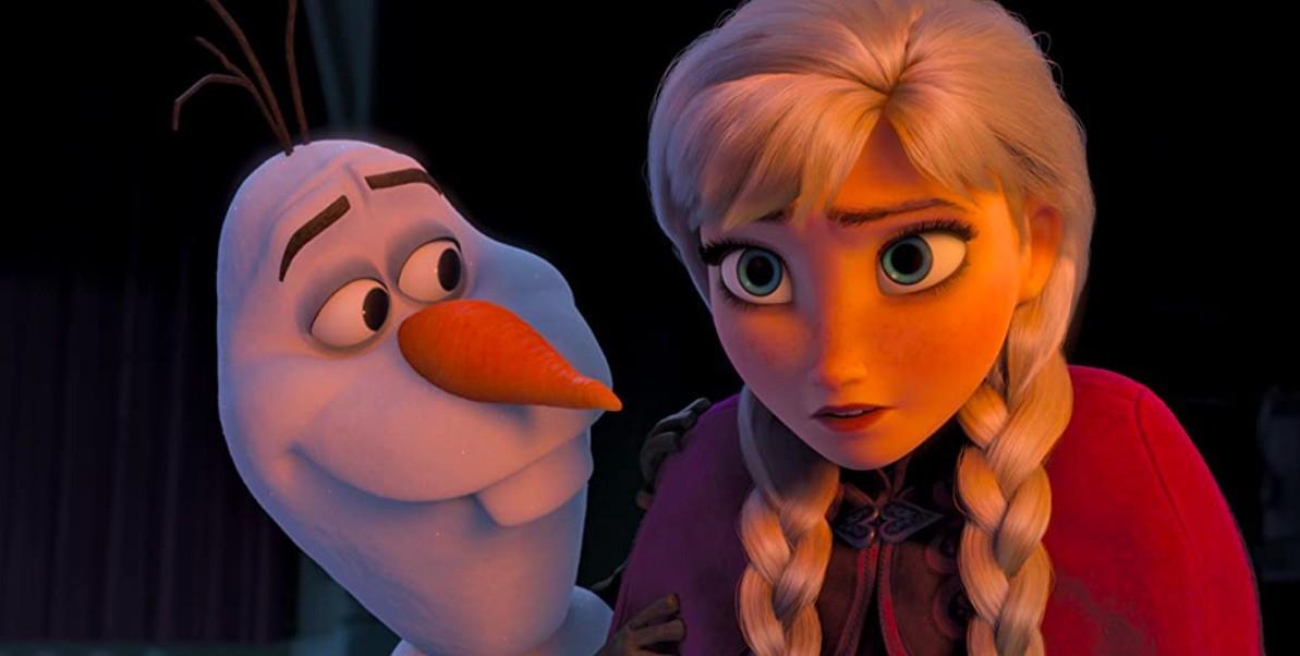 Kristen Bell and Josh Gad in Frozen