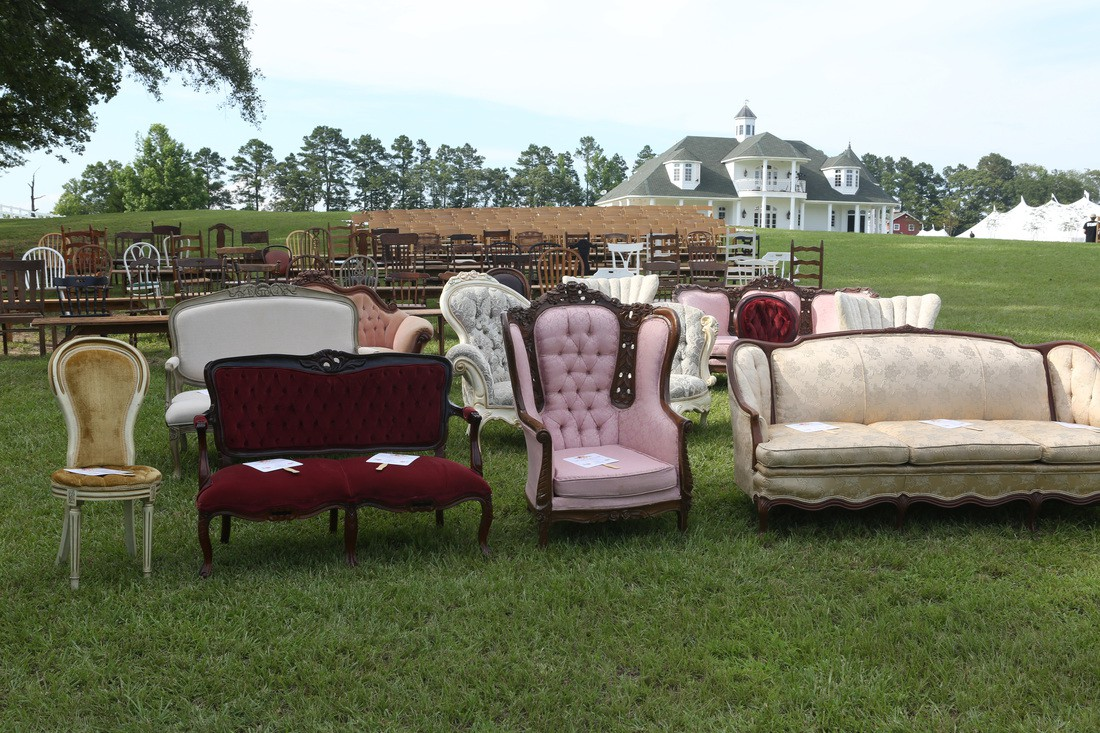 Vintage furniture for wedding chairs