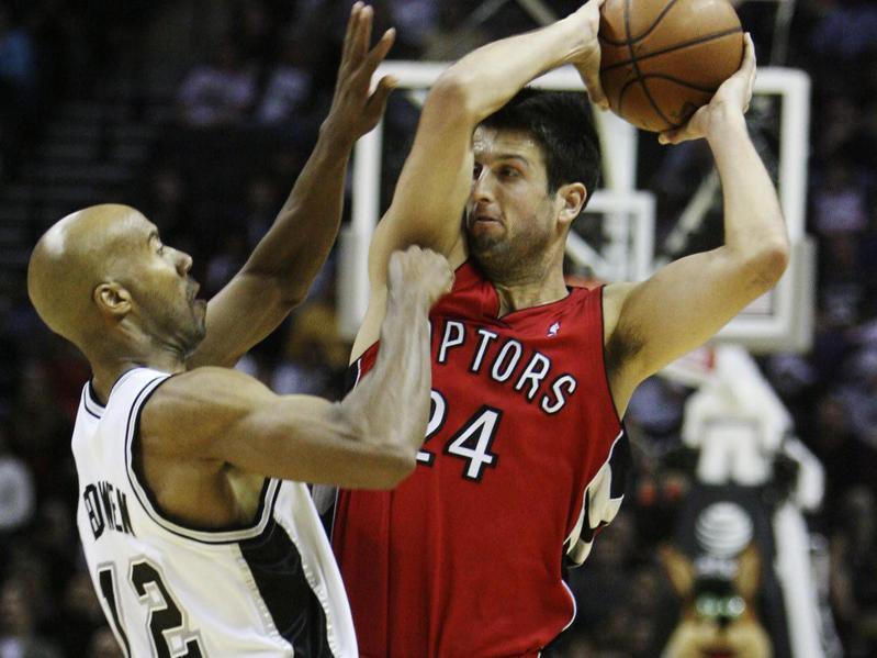San Antonio Spurs forward Bruce Bowen