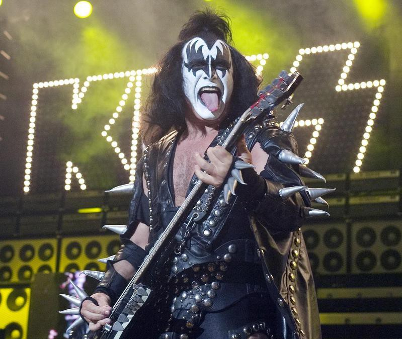 Gene Simmons as the Demon in a Kiss concert