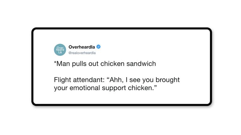 Emotional Support Chicken