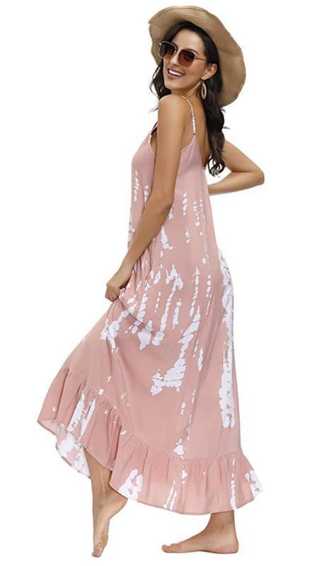 Buenos Ninos Women's V Neck Floral Maxi Dress