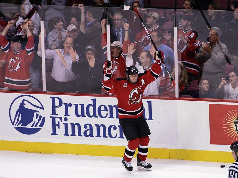 New Jersey Devils' John Madden reacts