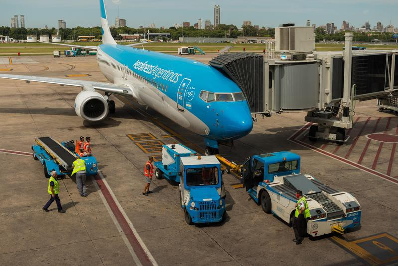Aerolineas Argentinas Airplane at Buenos Aires airport
