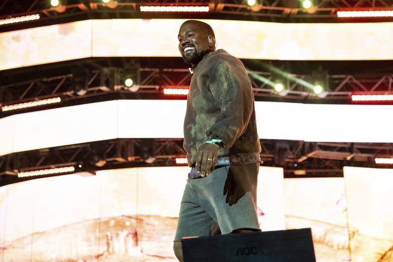 Kanye West performs with Kid Cudi at the Coachella Music & Arts Festival