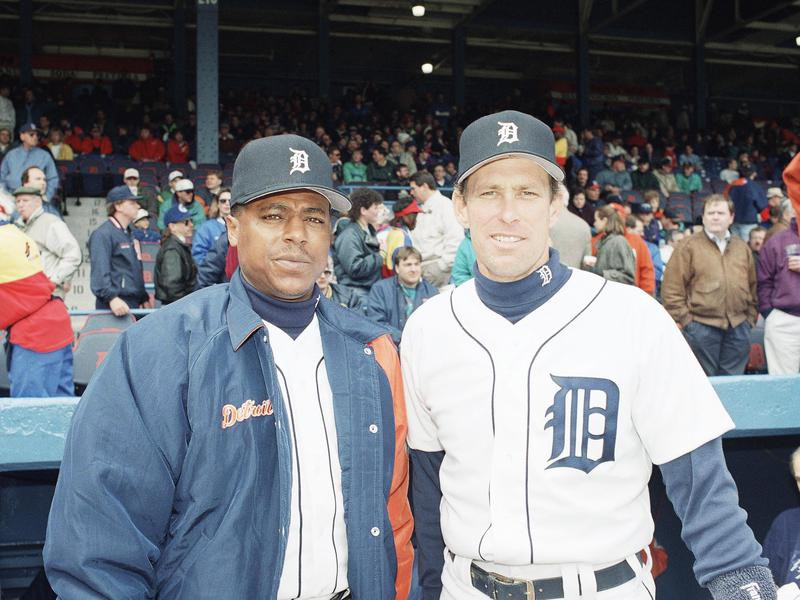 Lou Whitaker and Alan Trammell pose