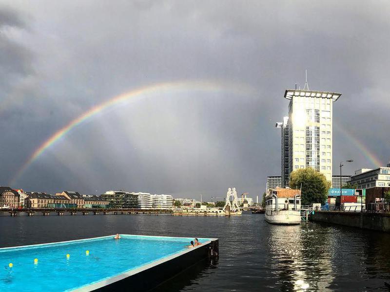 The Badeschiff pool in Berlin