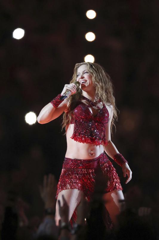 Shakira at Super Bowl 54