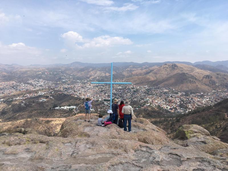 El Pipila Statue, La Bufa and the Parador Turistico Sangre de Cristo