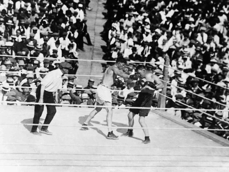 Tommy Gibbons and Jack Dempsey