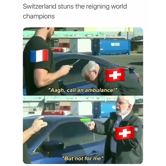 France loses to Switzerland