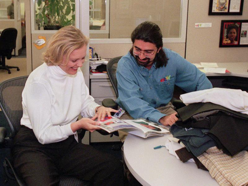 Meg Whitman and Pierre Omidyar