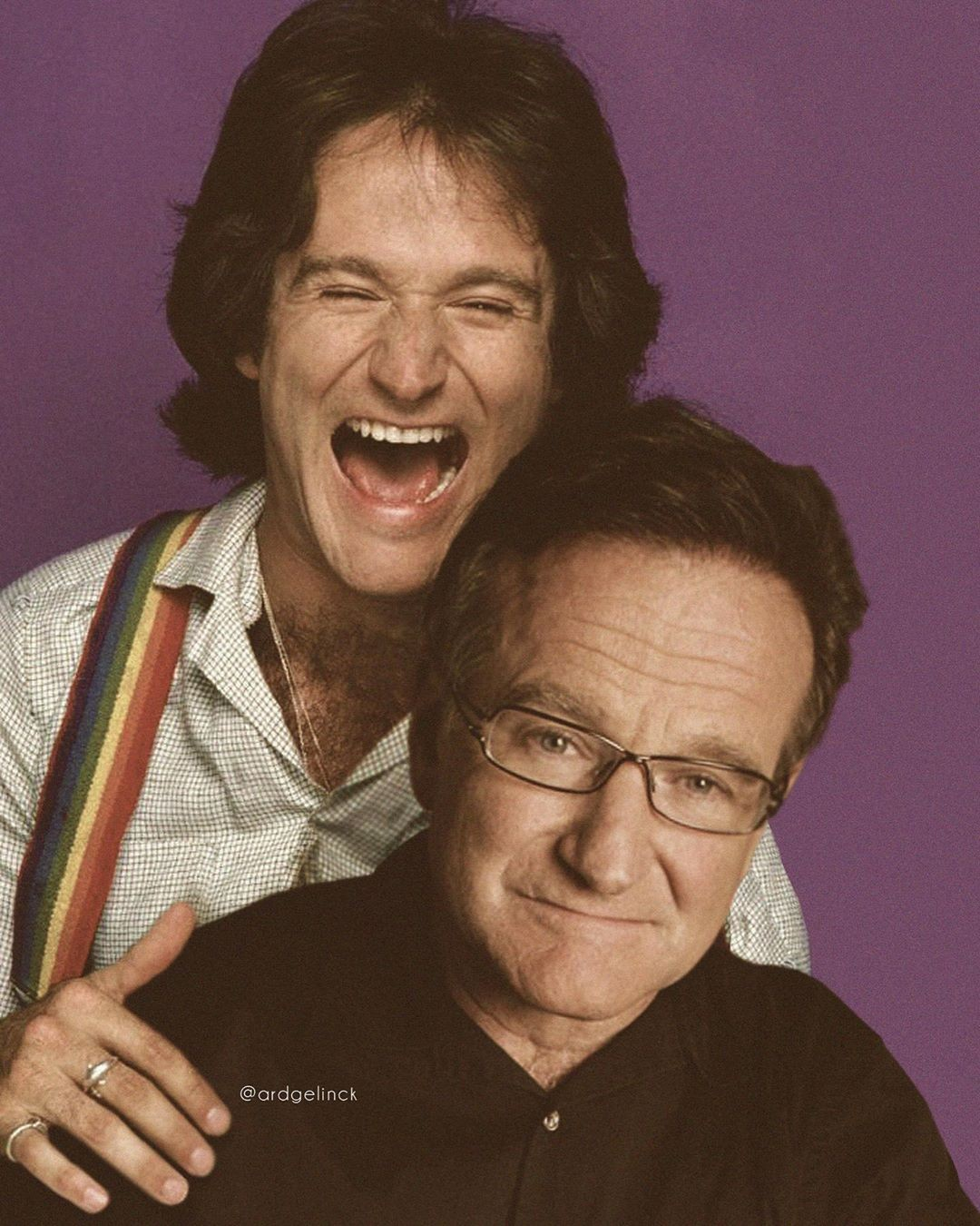 Robin Williams and Mork