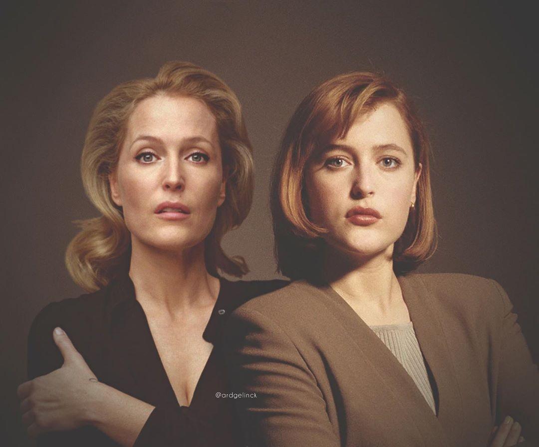 Gillian Anderson and Dana Scully