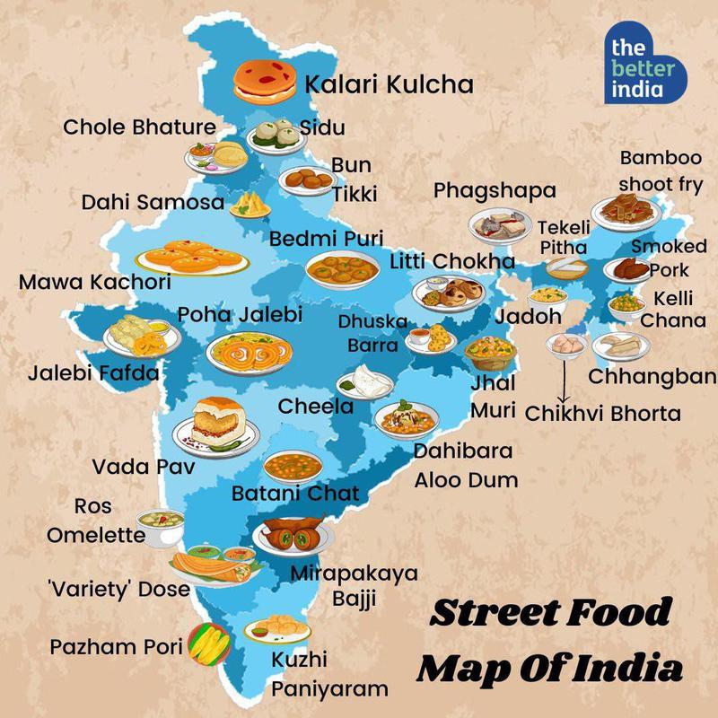 Indian street food map