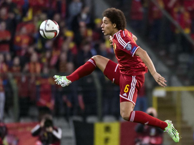 Belgium's Axel Witsel controls the ball during a game against Wales.