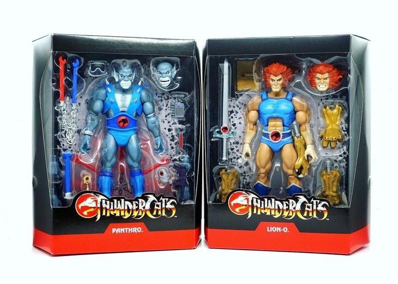 ThunderCats action figures in their boxes