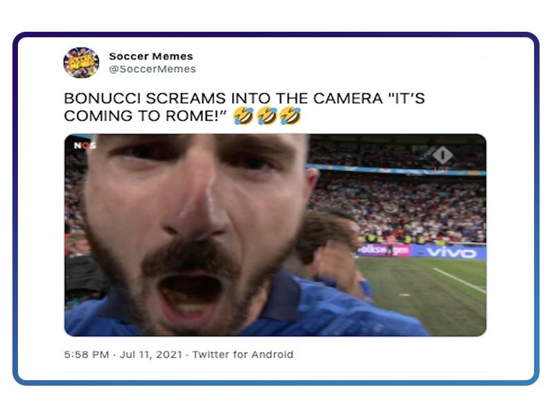 Bonnucci screaming in camera