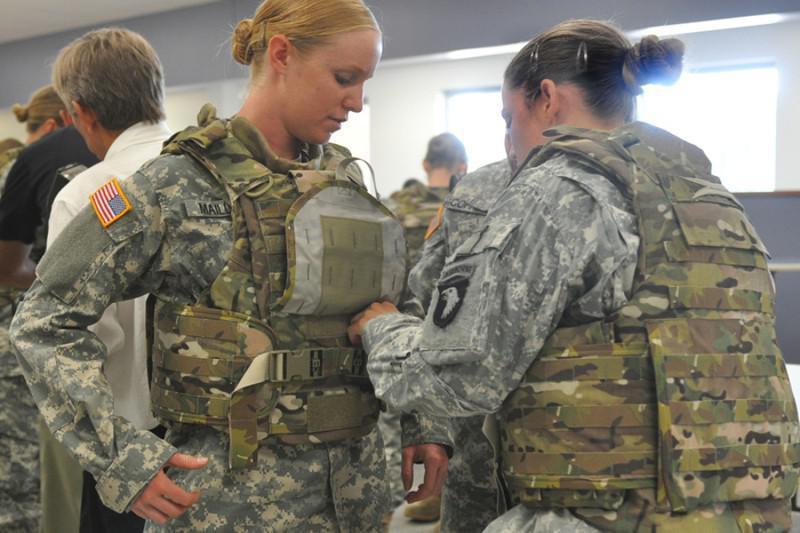 Body armor for women