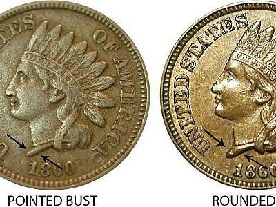 1860 Indian Head Cent (Pointed Bust)