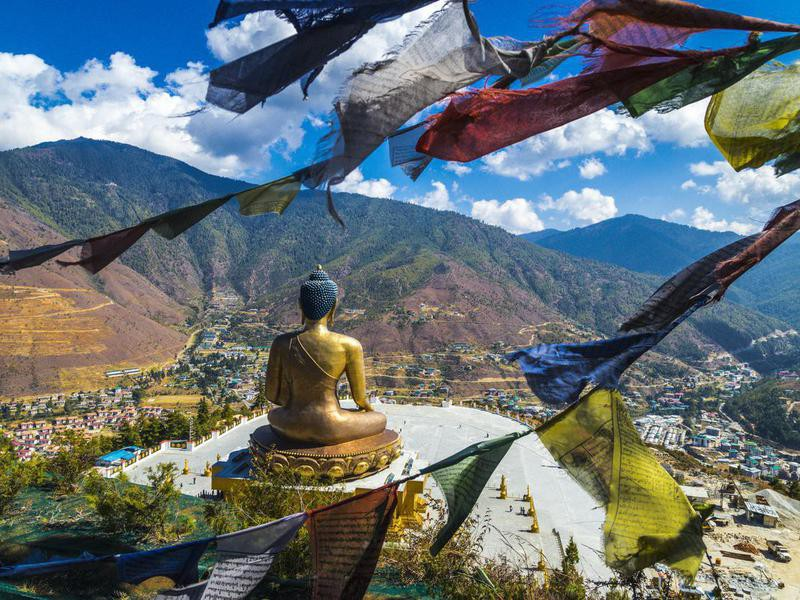 Golden Buddha statue in Bhutan