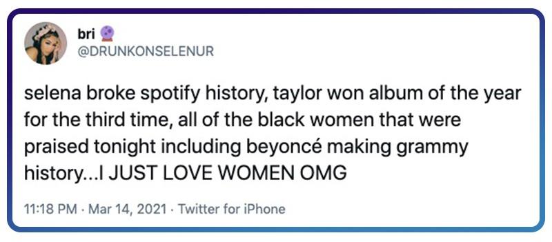 Beyoncé, Taylor, Selena, Women