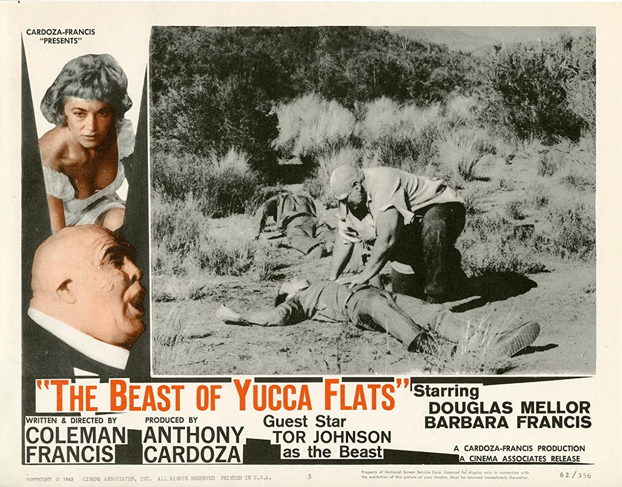 """""""The Beast of Yucca Flats"""" ad"""