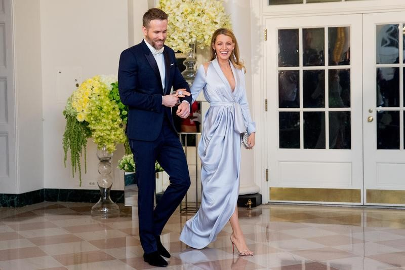 Blake Lively and Ryan Reynolds at a state dinner
