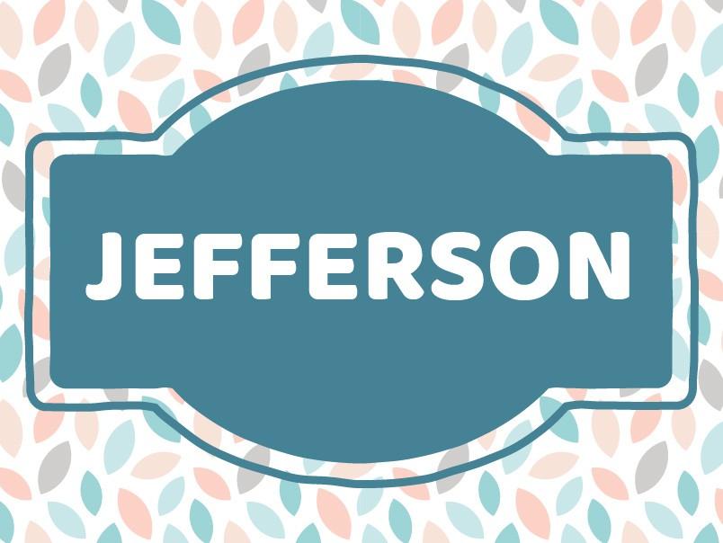 Cute J Baby Names: Jefferson