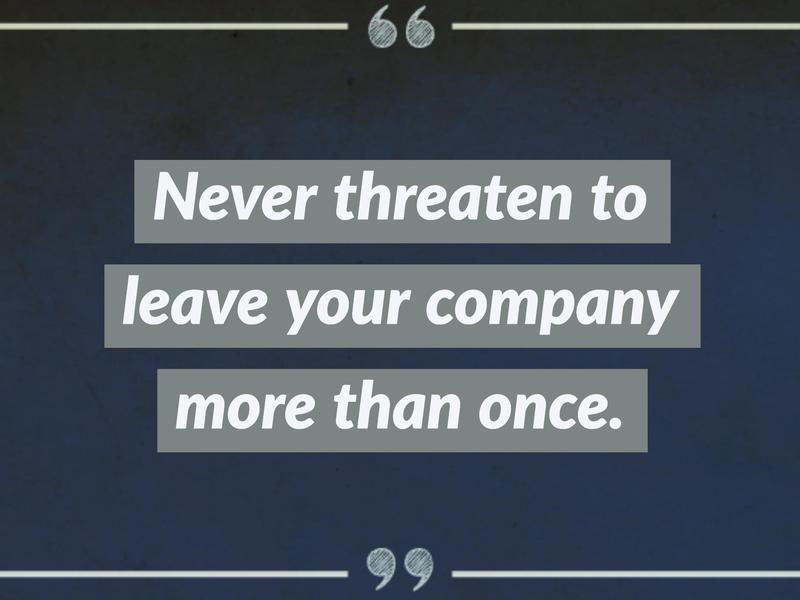 on threats