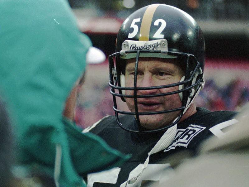Portrait of Pittsburgh Steelers center Mike Webster