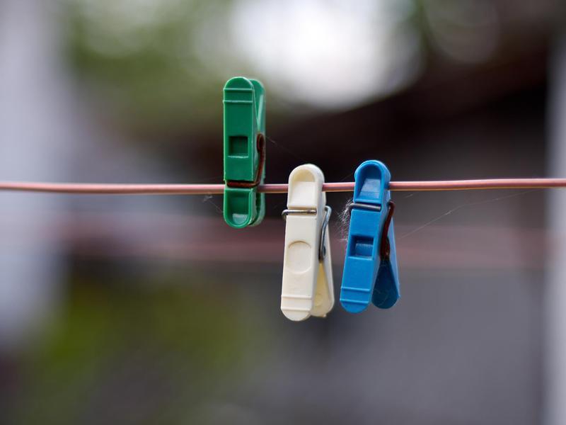 Line dry clothes