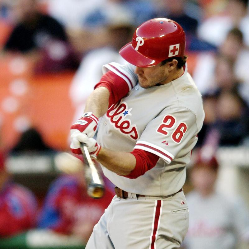 Philadelphia Phillies' Chase Utley connects for two-run home run
