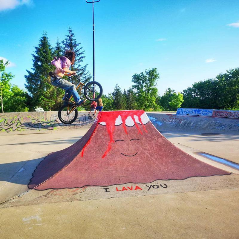 Skatepark street art in France