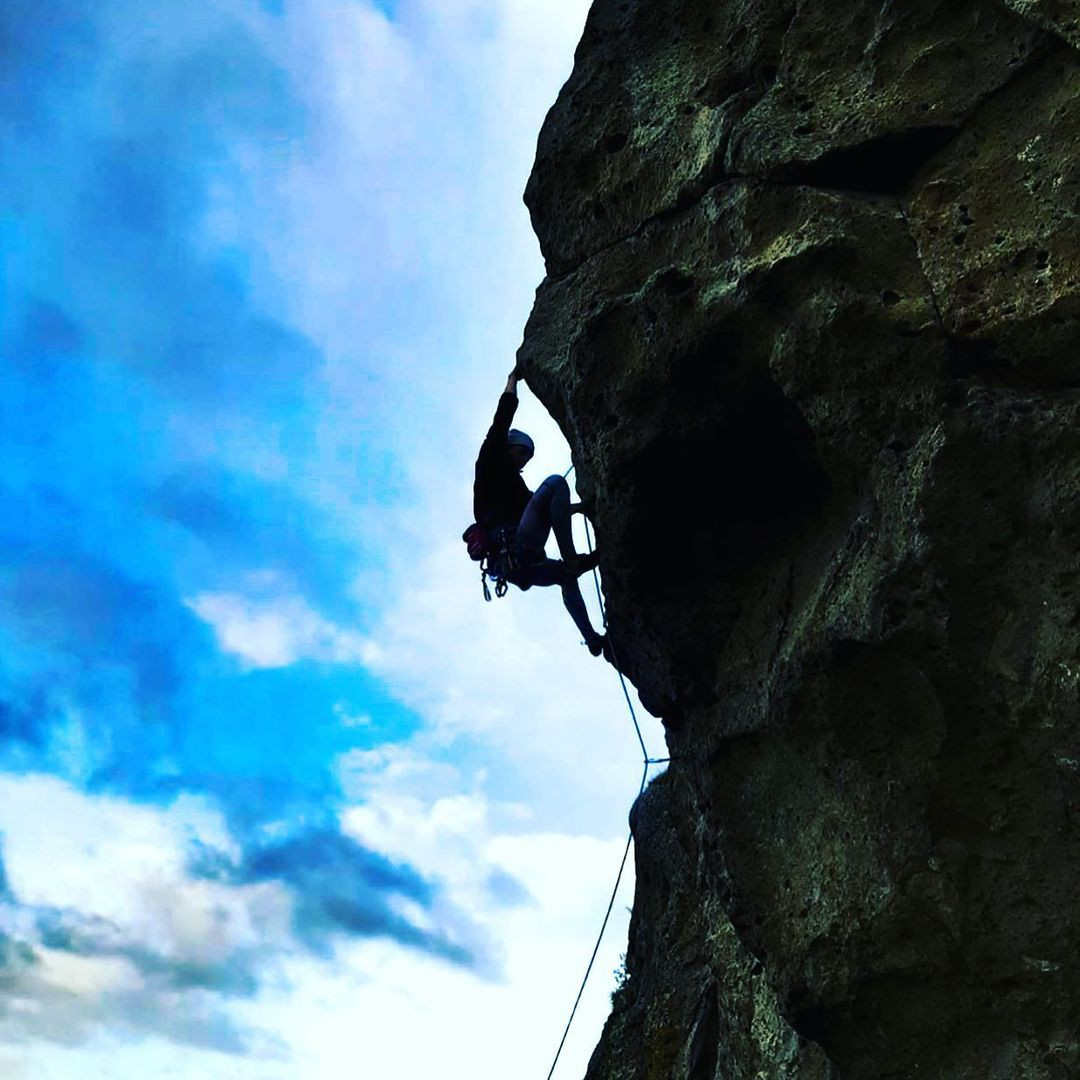 Rock climbing in Castle Hill, New Zealand