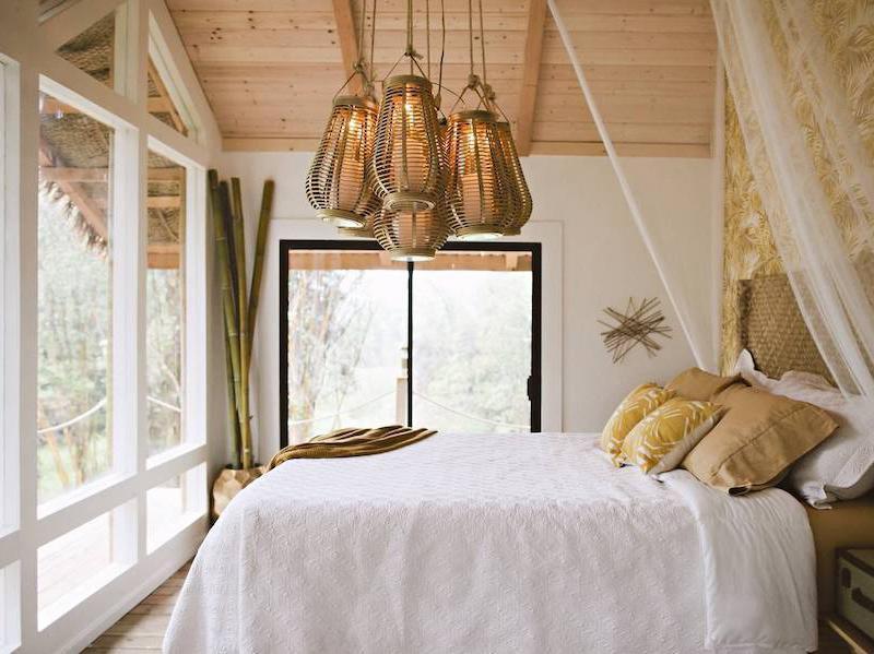 Dreamy Tropical Tree House bedroom
