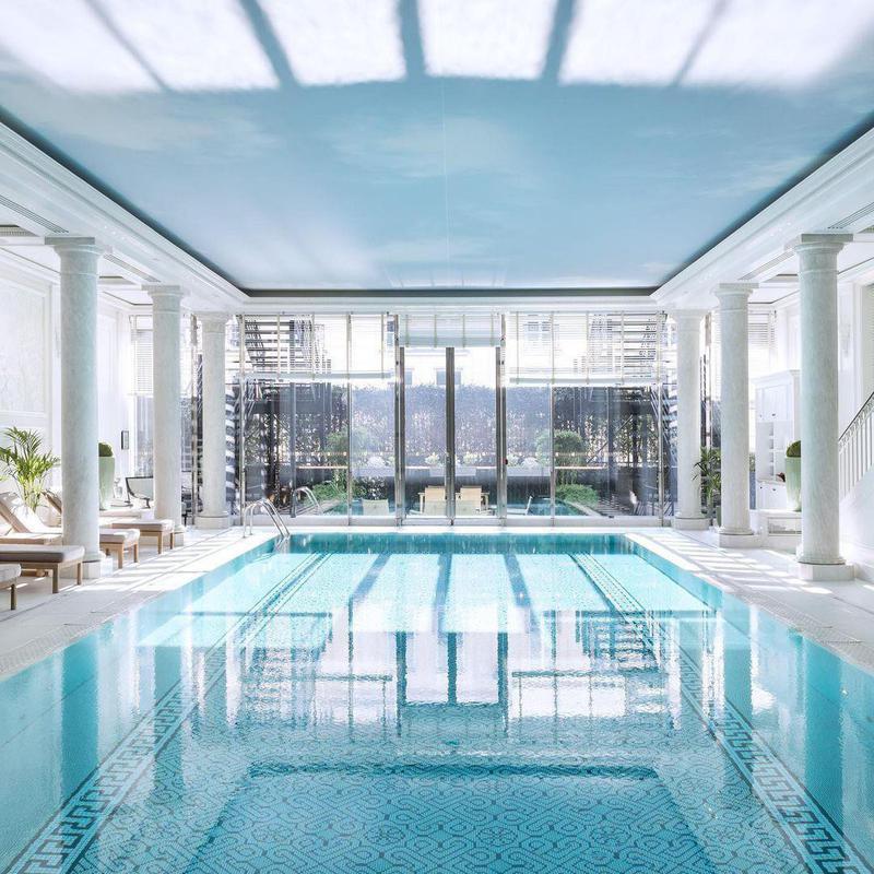 Tranquil Hotel Pool in Paris