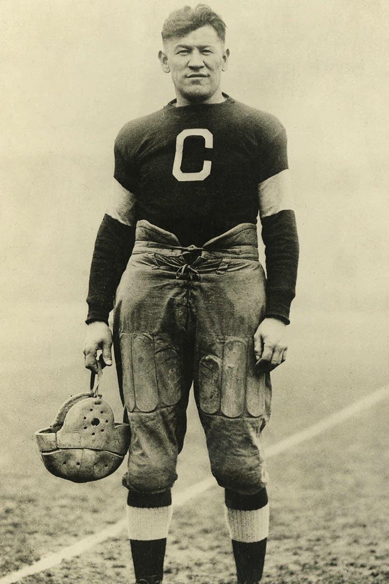 Jim Thorpe in a football uniform
