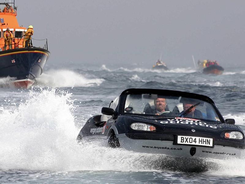 Richard Branson driving the English Channel