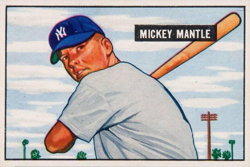 Mickey Mantle 1951 Bowman card
