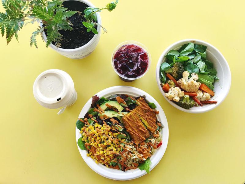 Oasis Vegetarian Cafe food