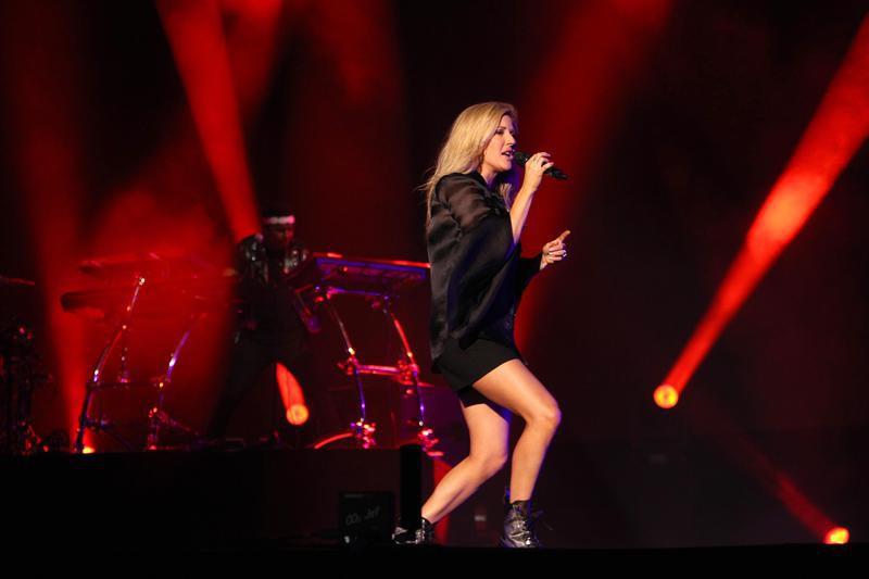 Ellie Goulding performs during concert