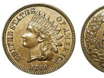 1860 Indian Head Coin