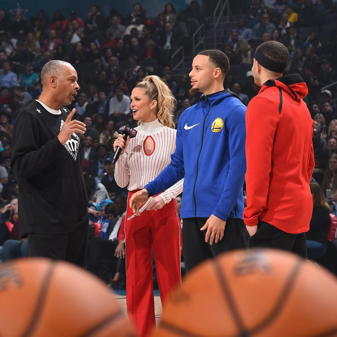 Del Curry, Allie LaForce, Steph Curry, Seth Curry