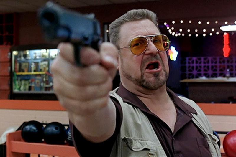 Walter points a gun