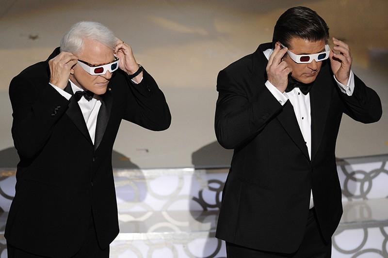 Alec Baldwin and Steve Martin in 3D glasses