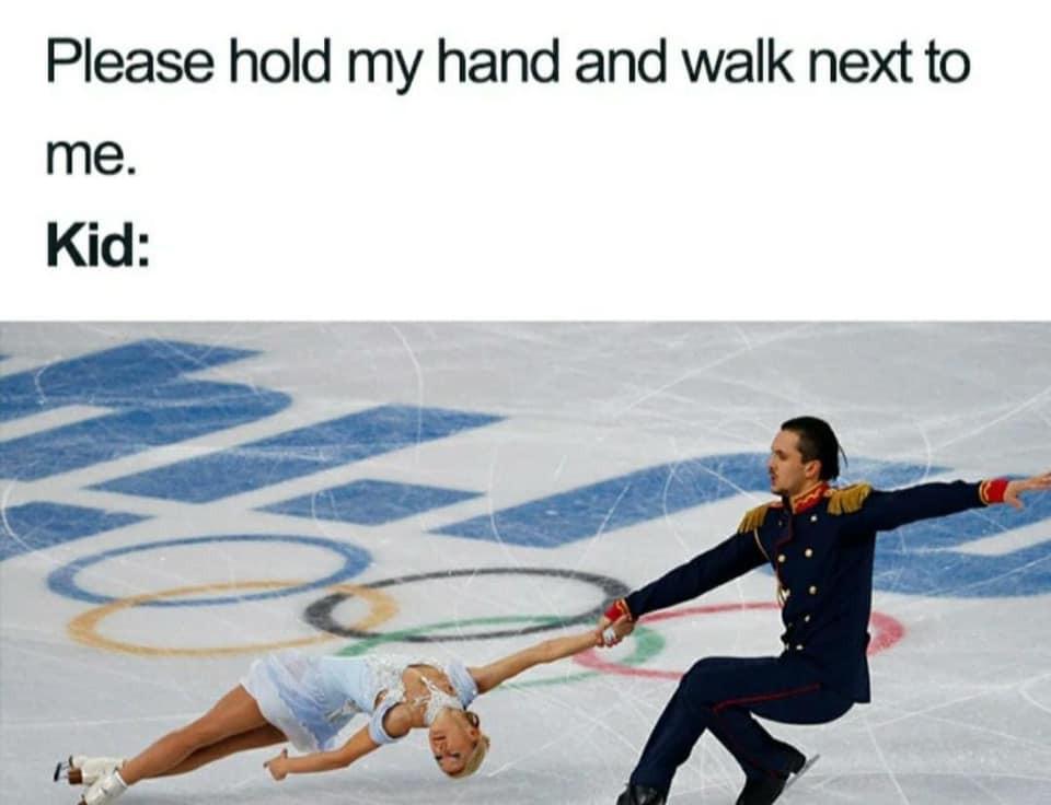 Walking with kids meme